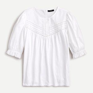J Crew Puffed-sleeve woven lace top NWT